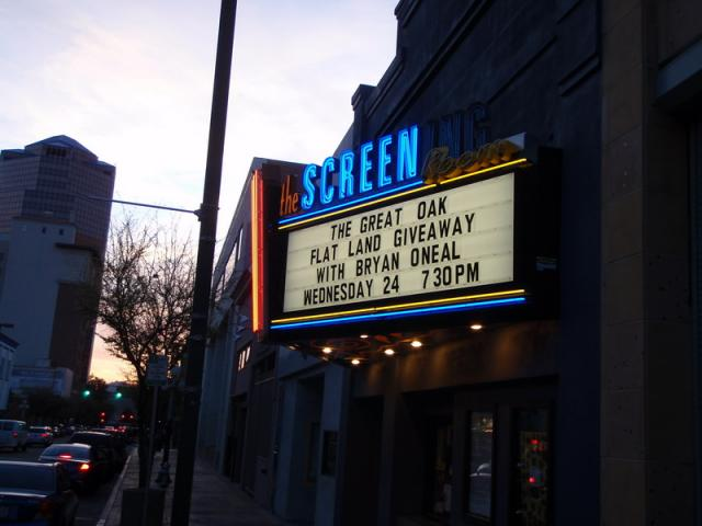 Marquee at the Screening Room