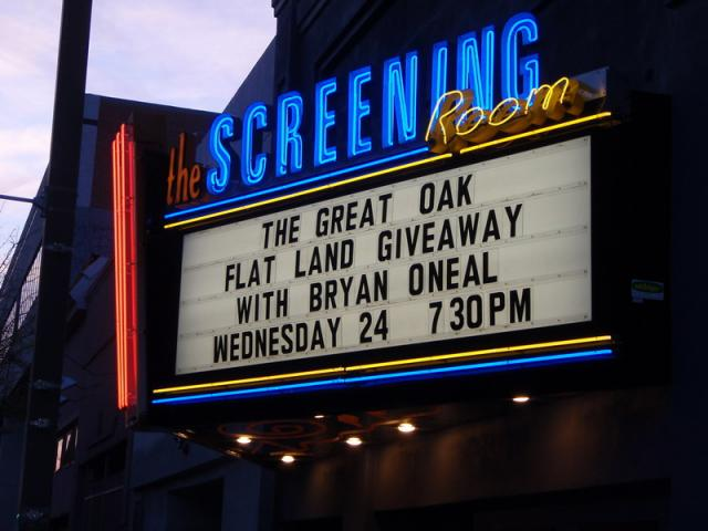 Marquee at the Screening Room 3