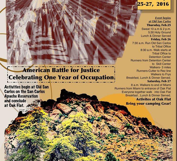 Please Attend Oak Flat Anniversary March